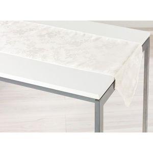 CHEMIN DE TABLE Chemin de table 40x140 cm FLORALIE NATUREL