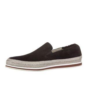 BASKET Slip on homme en daim sneakers Prada