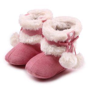 BOTTE Hiver Bébé Chaussures en coton Mignon Nœud papillo