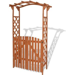 ARCHE vidaXL Arche pour jardin avec portique Bois massif