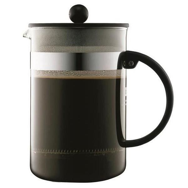 BODUM BISTRO Cafetière piston 12 tasses/1,5L noir