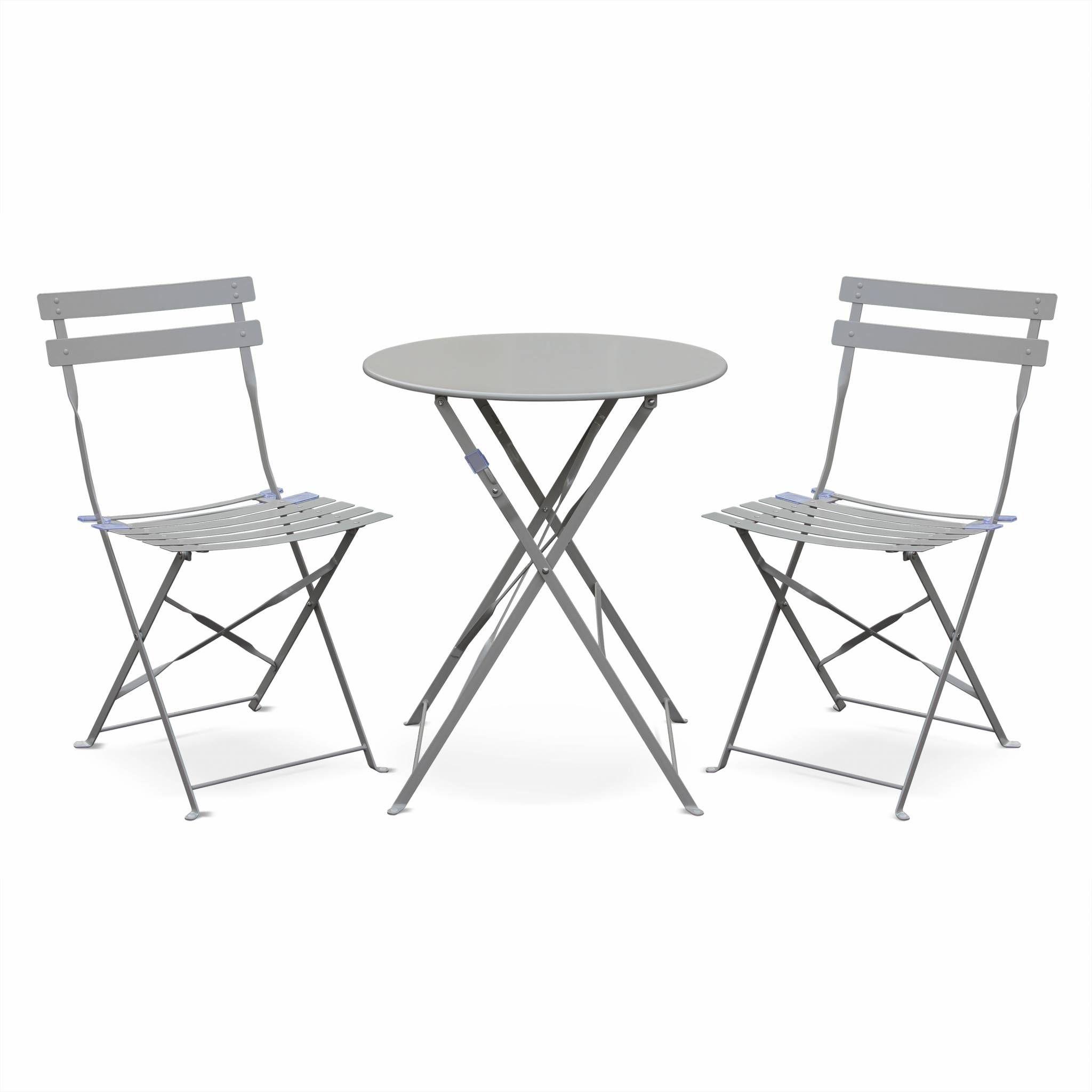 Table De Jardin Ronde Metal - Achat / Vente Table De Jardin Ronde