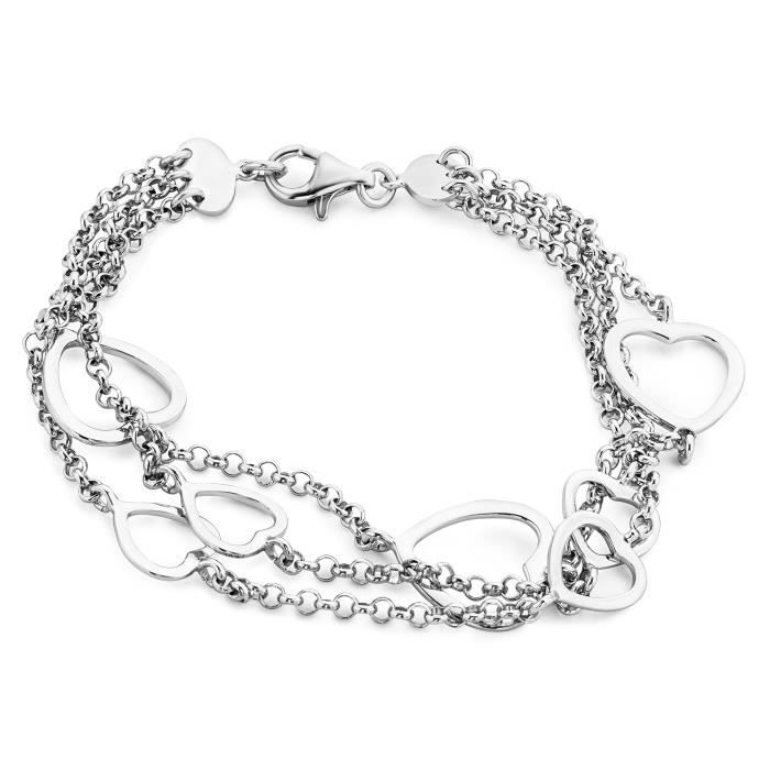 925 Miore Bracelet Coeur Femme Argent 1000 8 Jab72 8 Gr l1FKJTc