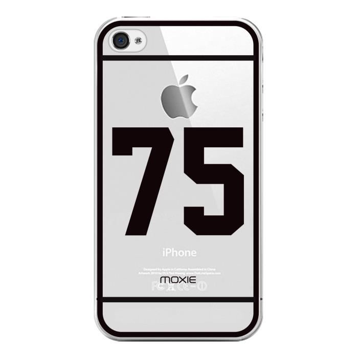 COQUE - BUMPER Coque Moxie Crystal NUMBERS n 75 pour iPhone 4/4S