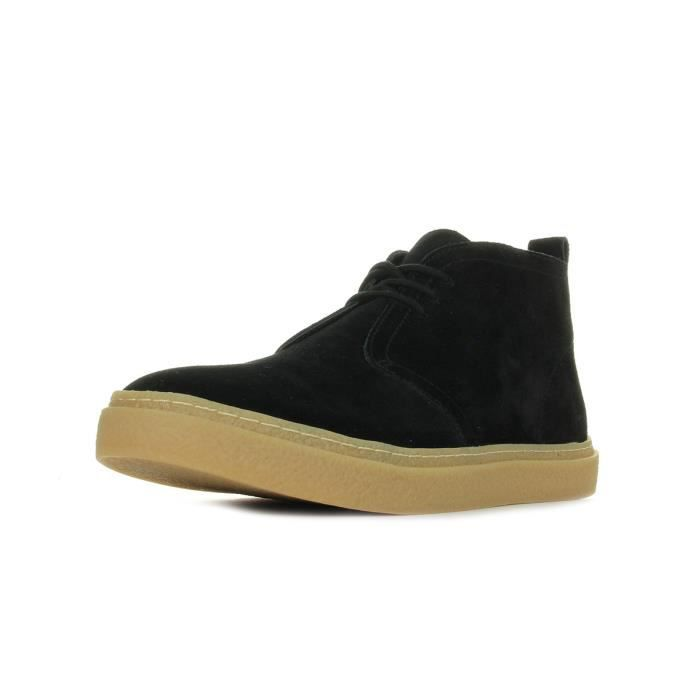 Baskets Fred Perry Hawley Mid Suede Black