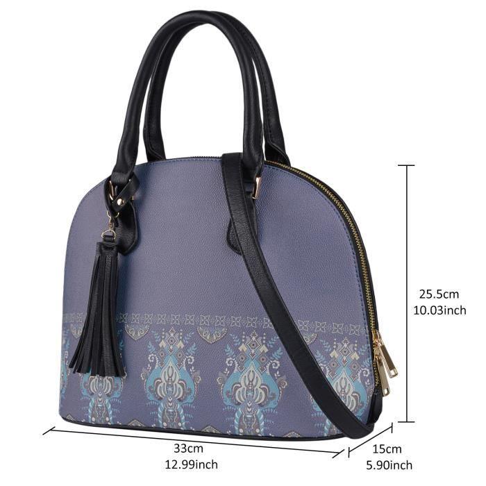 Mesdames sac cartable mode Paisley imprimé épaule sac à main Cross Body Messenger sac fourre-tout