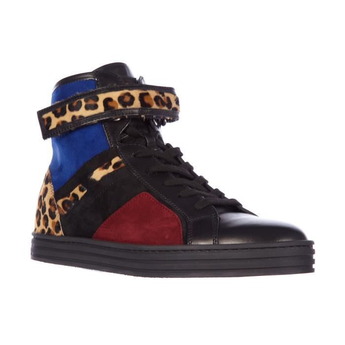 Chaussures baskets sneakers hautes femme en daim rebel r182 strap Hogan Rebel