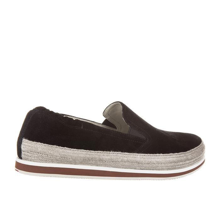 Slip on homme en daim sneakers Prada