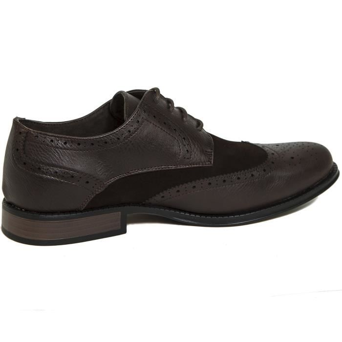 Zurich Wing Tip Oxfords Two-tone Brogue Medallion Z5FBM Taille-44 1-2