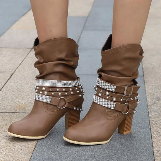 1e6e3385bf3f91 Bottines Chaussures Plates Vintage Botte Café Mode Cuir De En Souple  Dedasing® Confortable Femme AwpxHg
