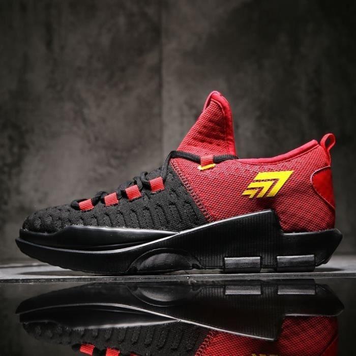 Basket MT-XZ20-39-Red-WA3 Rouge 7.5 Sports Casual lacent durables plus marchée Taille extérieure (75-10)