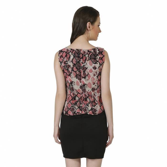Femmes Robe moulante rose LK4HS Taille-38