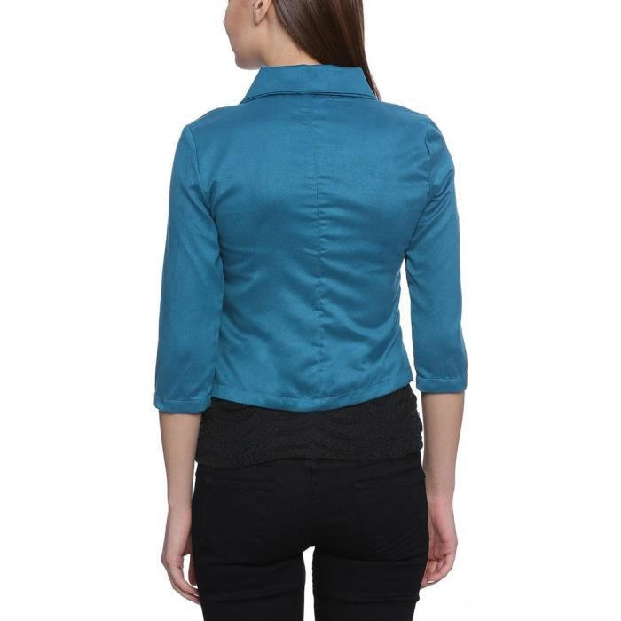 Vestes Casual Blue Suede femmes XYIT8 Taille-40