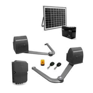 AVIDSEN Kit de motorisation ? bras articulés B250 pour portail ? 2 battants 5 m/500 kg avec kit solaire 654312