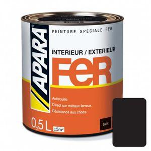 PEINTURE - VERNIS Peinture spéciale FER 0.5 litreNoir profond 0,5 li
