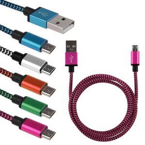 CÂBLE TÉLÉPHONE Téléphones Android données Chargeur Micro USB câbl