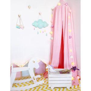 MOUSTIQUAIRE DE LIT Rose Ciel de lit Enfant Baldaquin Tente de Jeu Mou