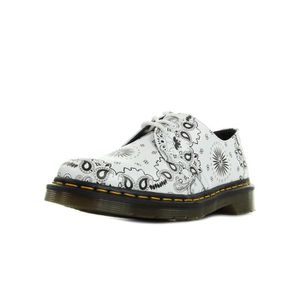 DERBY Chaussures Dr Martens 1461 White Bandana Backhand