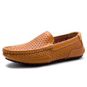Mocassins Hommes Cuir Ultra Comfortable Appartements Chaussures TYS-XZ071Orange42 VPlviAtolc