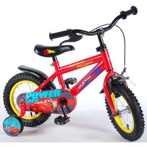 VÉLO ENFANT Vélo Enfant Garçon 12 Pouces Disney Cars Frein Ava