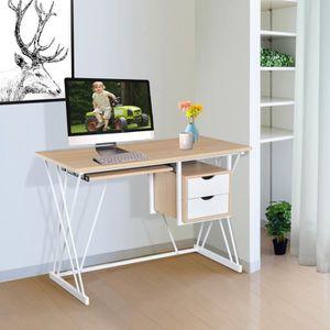 BUREAU  Bureau informatique Kally chêne et blanc