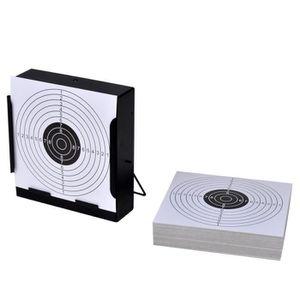 RECHARGE PISTOLET BILLE Porte-cible carré avec piège à plombs + 100 cibles