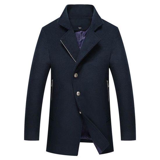 Montant Manteau Pardessus Classique Fit Slim Homme Col Vetement En Laine zzqrg