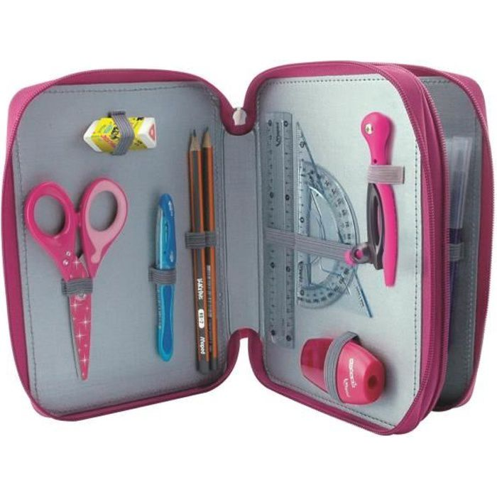 MAPED Trousse Scolaire Garnie 34 Pièces Girly