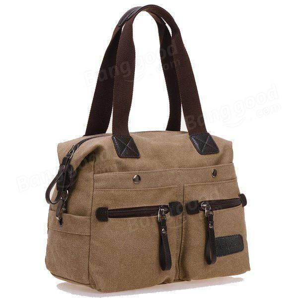 SBBKO1136Ekphero femmes hommes toile de poche multi sacs à main occasionnels oreiller épaule sac bandoulière sacs Khaki