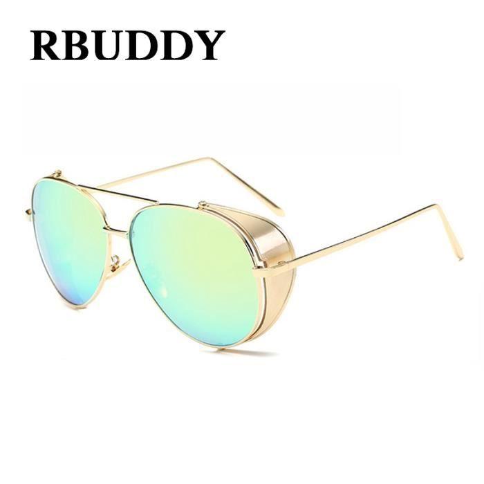 2017 Vintage de Steampunk Oculos Punk Métal Designer Hommes de soleil vapeur lunettes Marque RBUDDY sol Gothic verres Femmes été q1aPvv