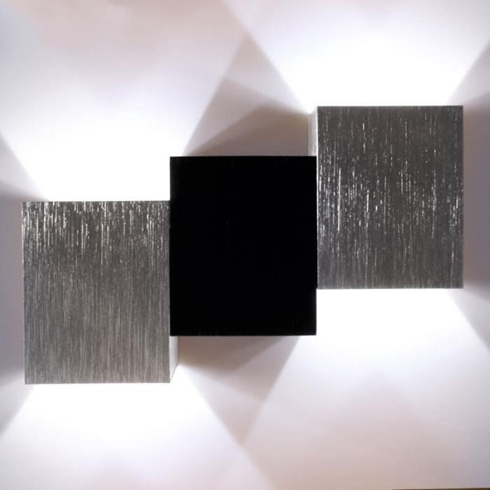 3 Cube Blanc Froid Applique Murale Intérieur Led Moderne Lampe