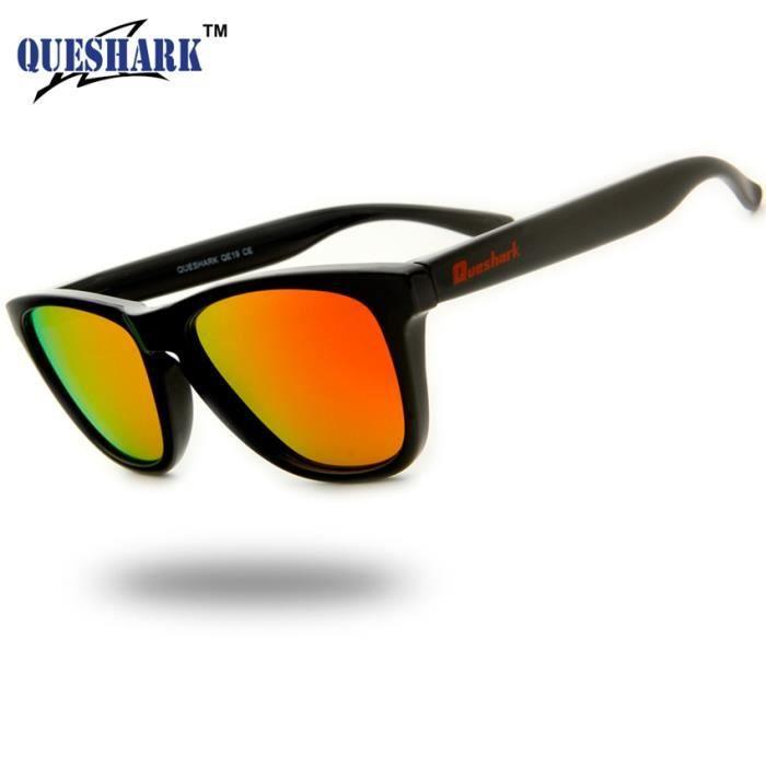 c88bdc8056ccc9 Black Frame Red Lens la mode des lunettes de soleil polarisées pour hommes  femmes