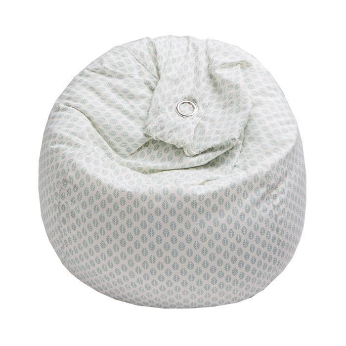 pouf poire scandi coton 79 x 79 x 100 cm bleu achat vente pouf poire coton soldes. Black Bedroom Furniture Sets. Home Design Ideas