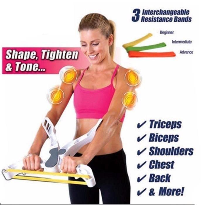 ELASTIQUE DE RÉSISTANCE Wonder Arms - Résistance Elastique Musculation Mac cbe383b7e27
