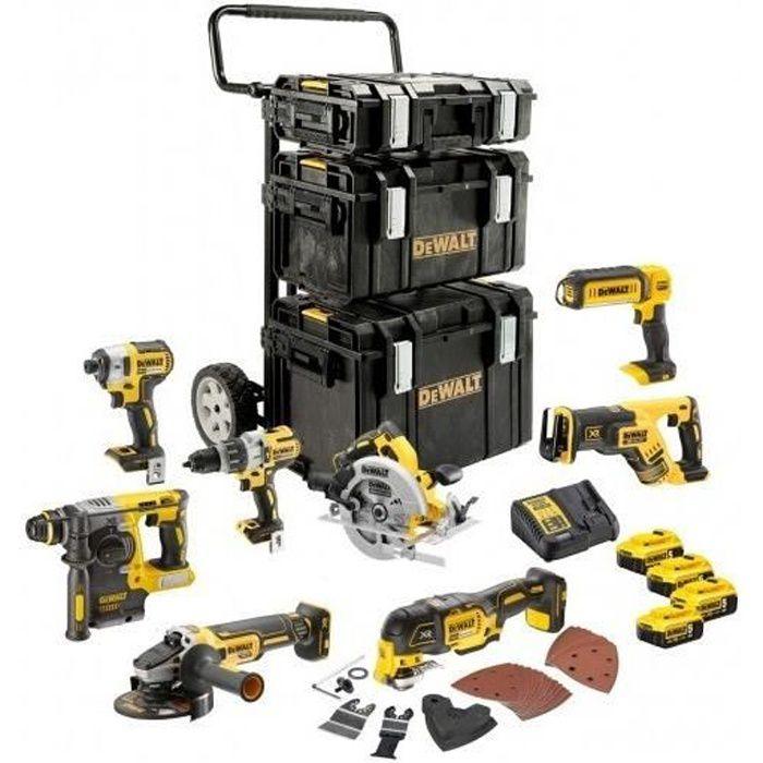 BATTERIE MACHINE OUTIL DeWalt - Kit Premium de 8 outils 18V 5Ah Li-Ion -