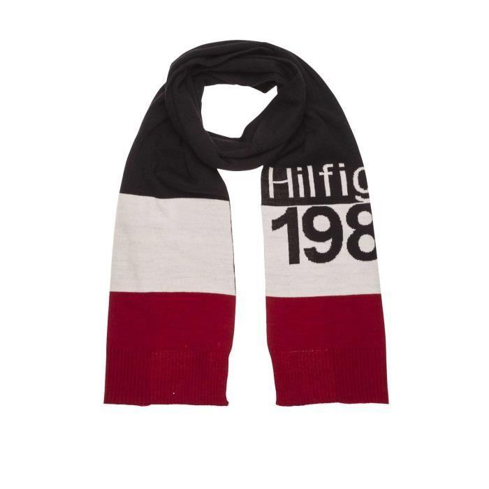 baa0383c62f3 Écharpe Tommy Hilfiger Denim Logo - Achat   Vente echarpe - foulard ...