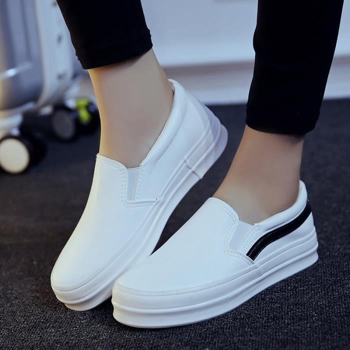 Escarpin C-x236blanc40 chaussure femme talon ete mode Chaussures détente Talons hauts Respirant Confortable Qualité Supérieure v57dGU