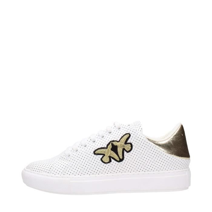 Pinko Sneakers Femme Bianco/oro XnbGUxzCk