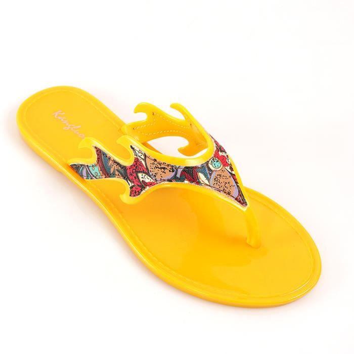 Pantoufles femme mode d'été créative femmes sandales plat main femme glisser vers le haut en utilisant des sandales femmes sandales