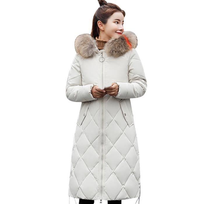 Dedasing® femme hiver manteau chaud en fausse fourrure à