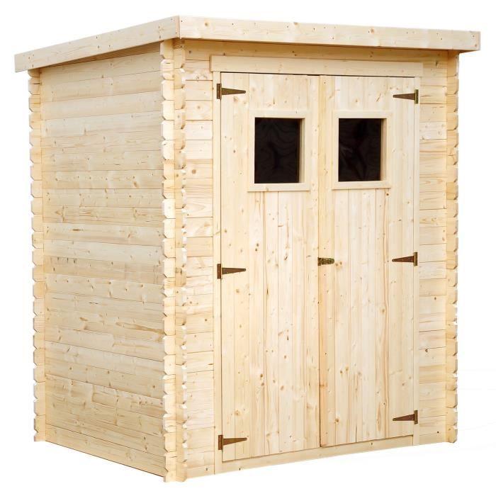 Abri de jardin en bois toit plat 2,76m² en sapin FSC - Achat ...