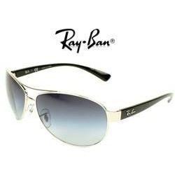 RAY BAN Lunettes de Soleil RB3386 Argenté et Noir Mixte