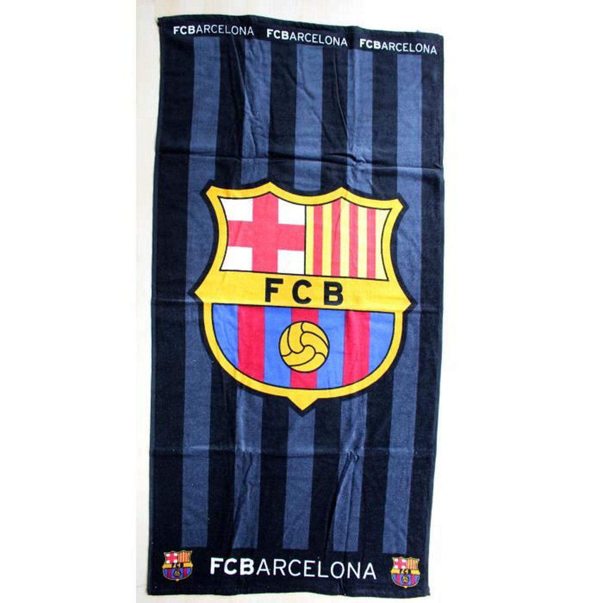 9909a07f3f955d Serviette de bain Drap de plage coton Fc barcelone Barça Messi Suarez