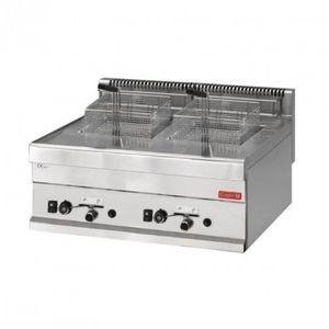FRITEUSE ELECTRIQUE Friteuse à gaz 650 mm - 2 x 8 Litres - 12,6 kW - G