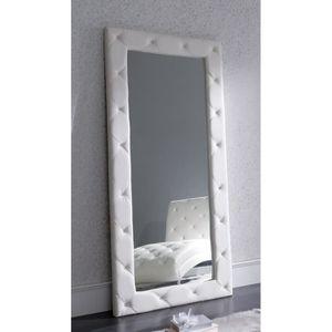 Grand Miroir En Similicuir Et Strass - Achat / Vente miroir - Soldes ...