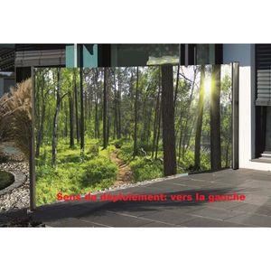PARAVENT Brise-vue rétractable avec motif photo 160 x 300 c