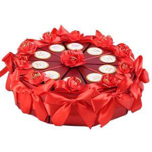 BOÎTE À DRAGÉES 10 PCs Créatif Rose Fleur Bow triangle gâteau case