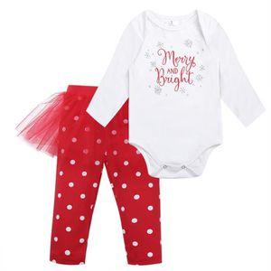 bc8c087f4d620 Ensemble de vêtements Body Bébé Filles pantalon 6-24 Mois Noël Costume M