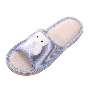 a7bb4598800 TONG Mode Hommes Coton Tissu Ménage Chaussures Platefor
