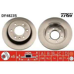 DISQUES DE FREIN TRW Disque de frein unitaire DF4823S
